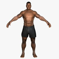 3d model african american male body