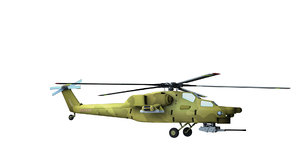 3d mi 28 helicopter