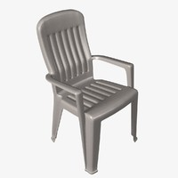 3d model of stackable patio chair