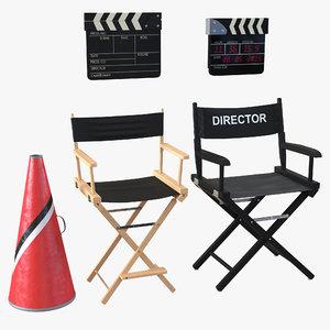 3d director accessories model