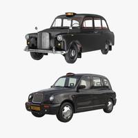 london cabs 3d model