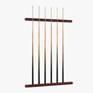 3d billiard cue rack