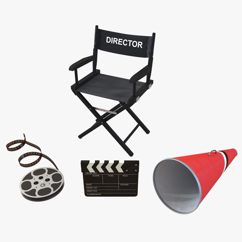 director chair accessories 3 3d model