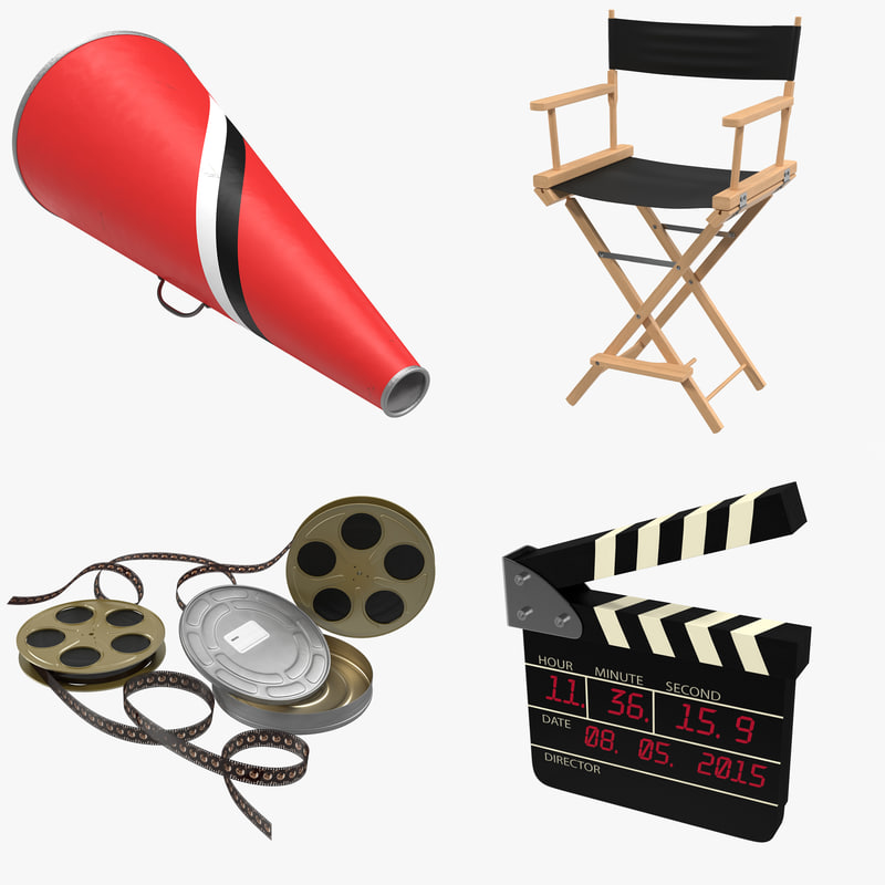 3d model director chair accessories 4
