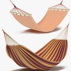 3d hammocks modeled model