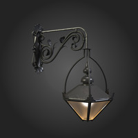 3d model street light old