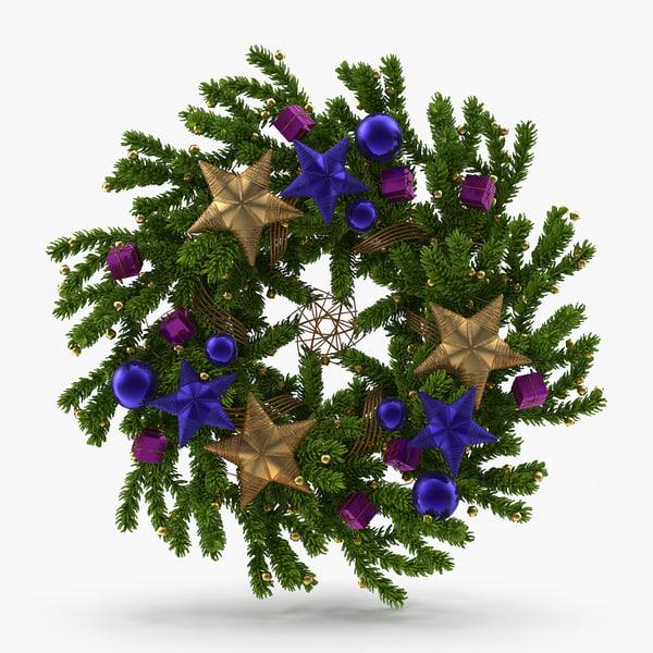 christmas wreath 3d model