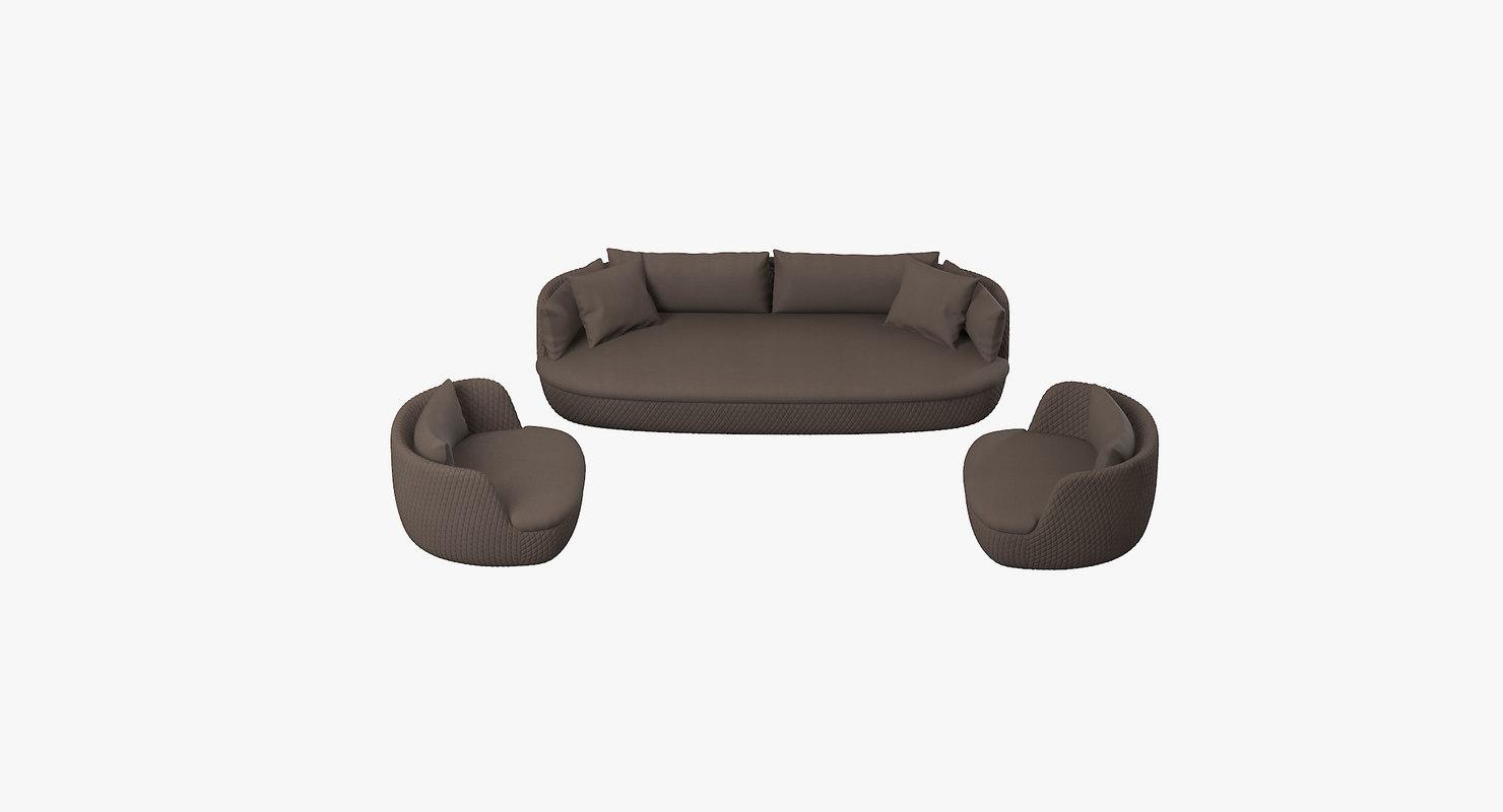 3d moooi bart sofa