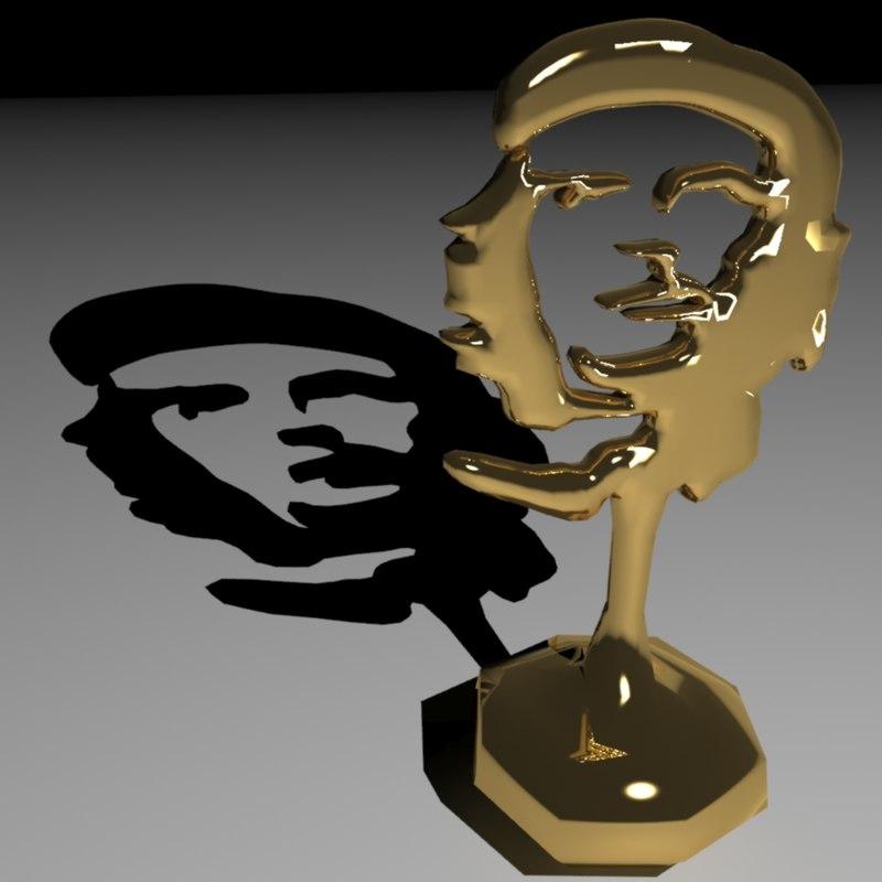 3d model che guevara trophy