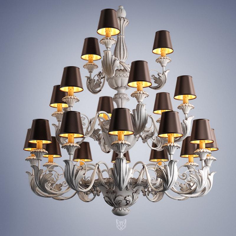 3d model chandelier silvano