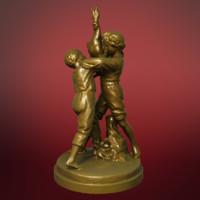3d statue boys