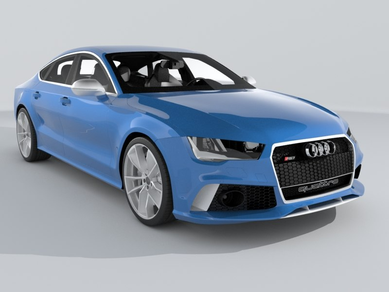 audi rs7 sportback performance 3d model
