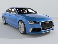 audi rs7 sportback performance 3d model