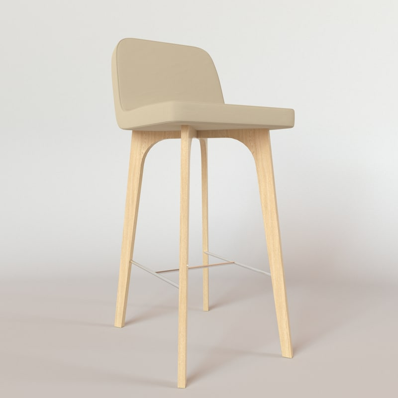 ligne roset vik bar chair 3d model