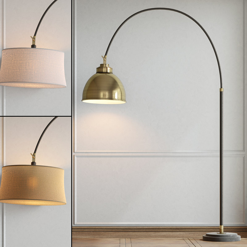 floor lamp pottery barn 3d 3ds