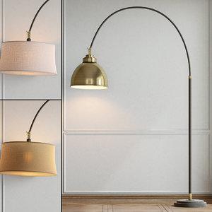 floor lamp pottery barn 3d 3ds