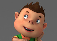 3d cartoon boy rig character