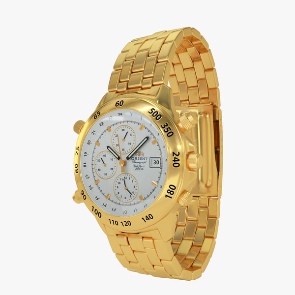 max orient gold watch chronograph