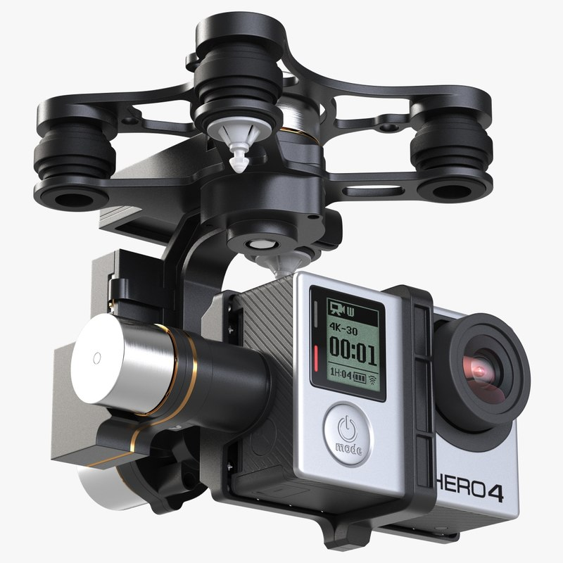 3ds gimbal stabilizer gopro 4