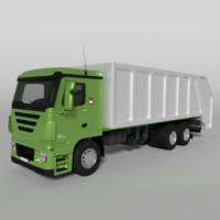 obj garbage truck