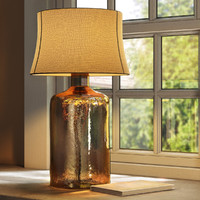 Pottery Barn  Clift Glass Table Lamp Base - Espresso