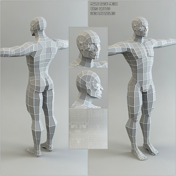 maya male base mesh