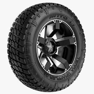 road nitto rockstar rim wheel max