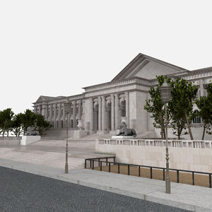 library exterior 3d model