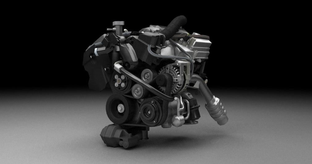 3ds max car engine
