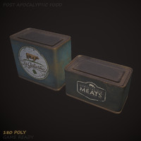 3d canned meat model