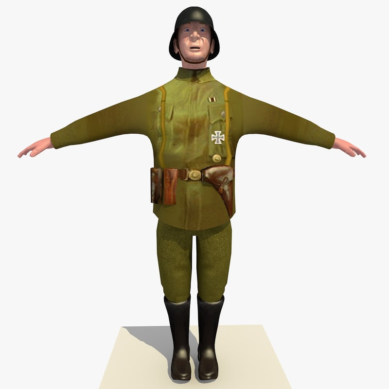 world war german lieutenant 3d x