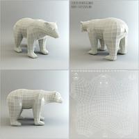 base mesh bear 3d model