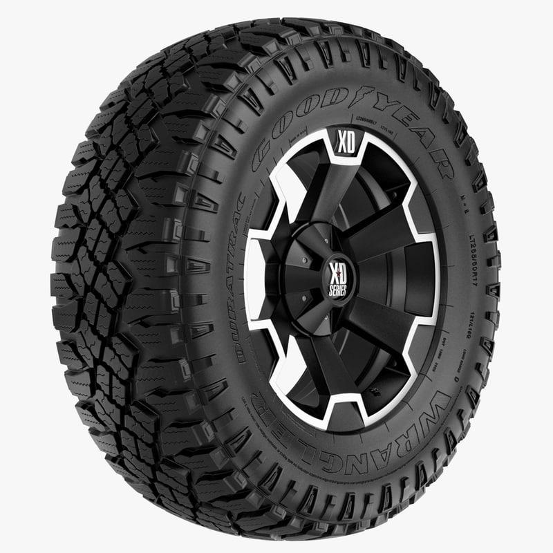 road wrangler xd rim wheel 3d max