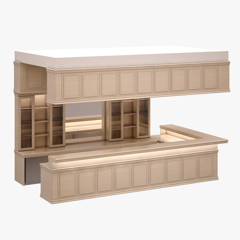 3d model bar set