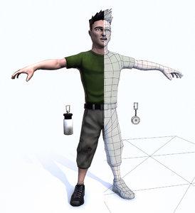 video games - 3d model