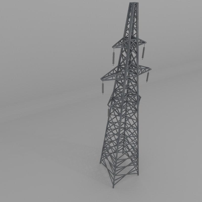 column power lines 3d 3ds