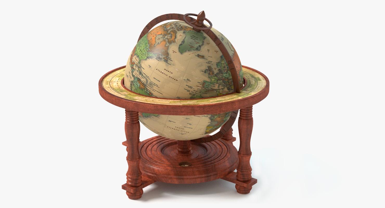 globe world earth 3d obj
