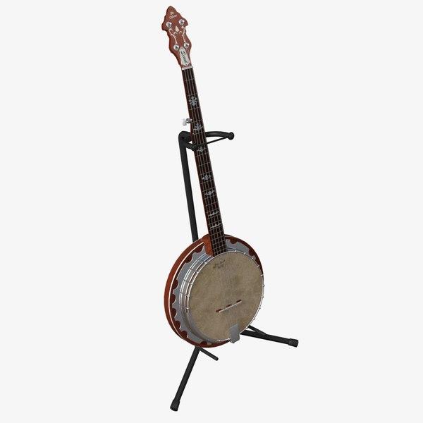 3d model banjo stand