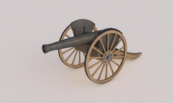 3d c4d cannon artillery