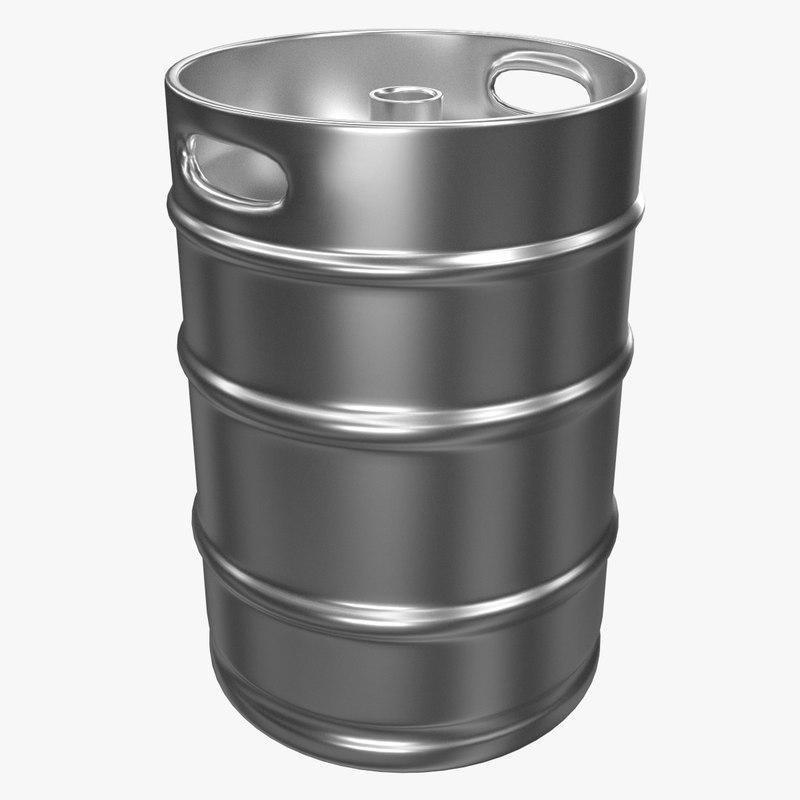 3d beer keg 2 model