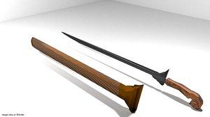 sword malay 3d model