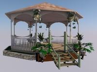 3d model garden gazebo
