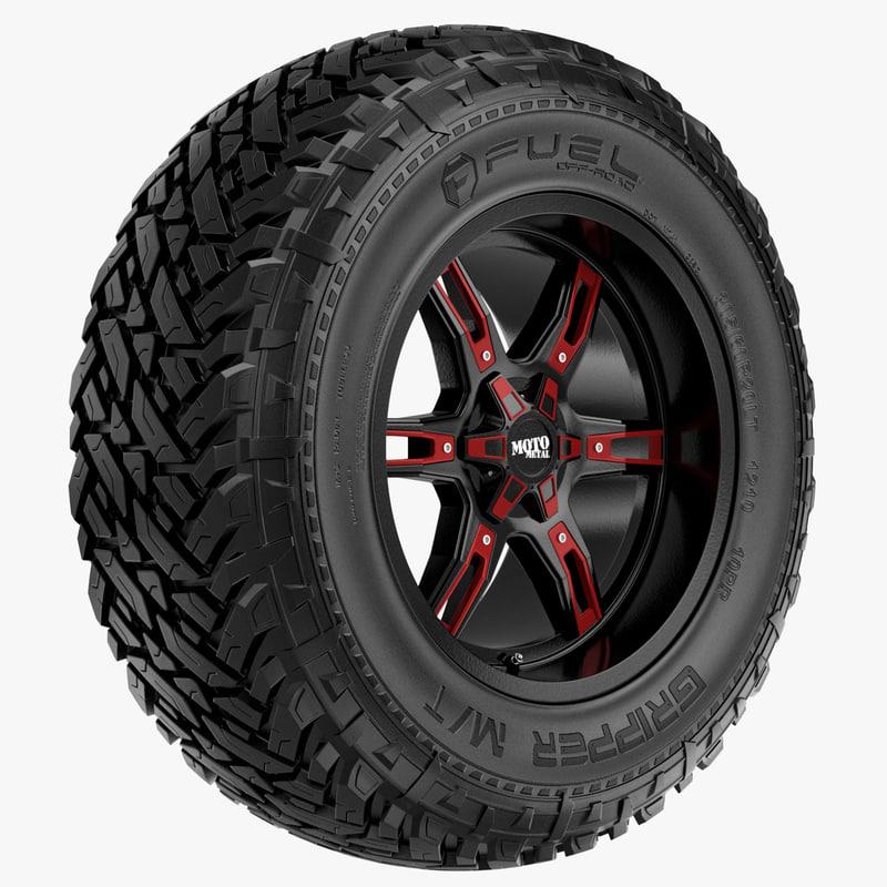 road fuel motometal rim wheel 3d max