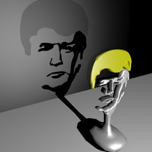 donald trump trophy 3d model