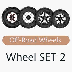 road wheel set 2 3d obj