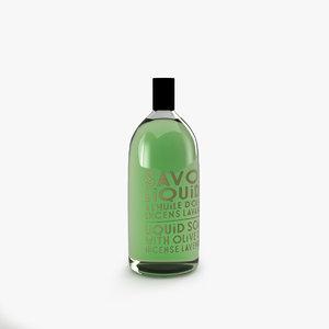 3d savon liquide soap model