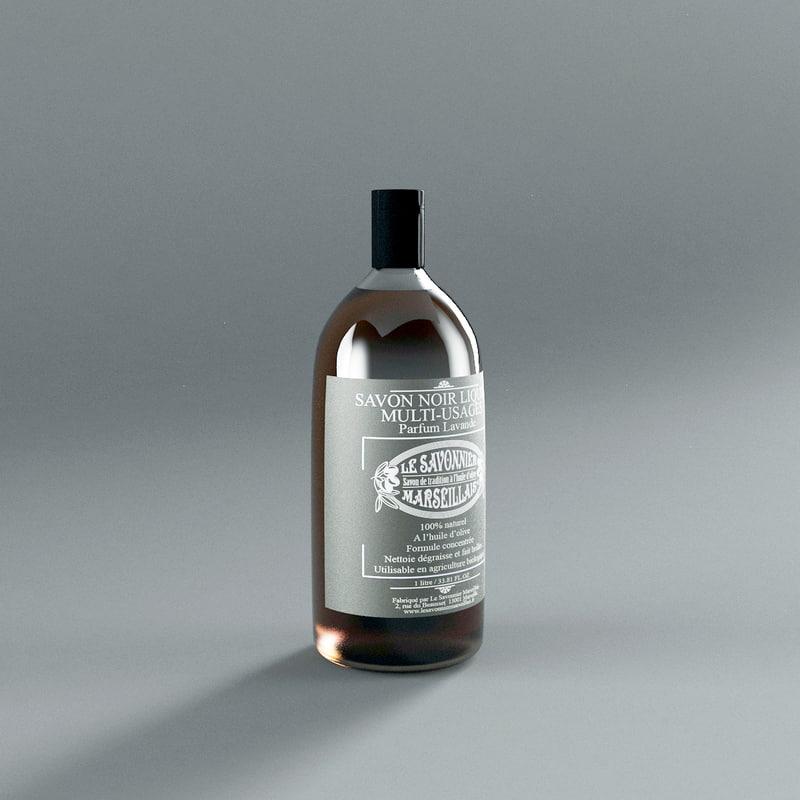 savon parfum lavande 3d model