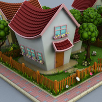 max cartoon houses