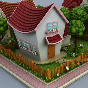 3d cartoon houses