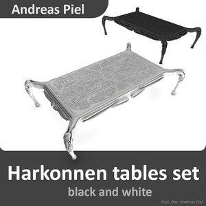 c4d set harkonnen table black